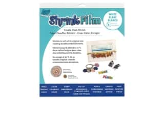 Grafix Shrink Film 8 1/2 x 11 in. White 6 pc.