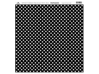 scrapbooking & paper crafts: Paper Cafe Cardstock 12 in. x 12 in. White Black Reverse Mini Dot 15 pc