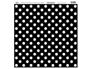 Paper Cafe Cardstock 12 in. x 12 in. White Black Reverse Dot 15 pc