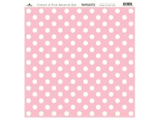 "Paper Cafe Cardstock 12""x 12"" Cream & Pink Reverse Dot 15pc"