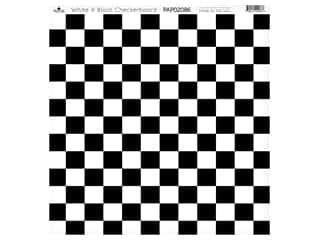 Paper Cafe Cardstock 12 in. x 12 in. White Black Checkerboard 15 pc