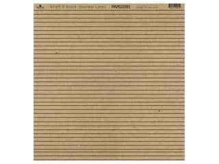 "Paper Cafe Cardstock 12""x 12"" Kraft & Black Journal Lines 15pc"