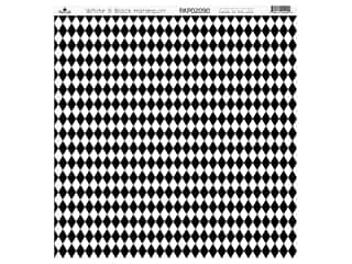 Paper Cafe Cardstock 12 in. x 12 in. White Black Harlequin 15 pc