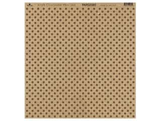 "Paper Cafe Cardstock 12""x 12"" Kraft & Chocolate Mini Dot 15pc"