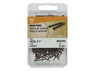 "craft & hobbies: Hillman Panel Nails 16ga 1"" Brown 6oz"
