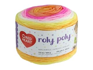 Coats & Clark Red Heart Roly Poly Yarn 3.5 oz Sunrise (3 skeins)