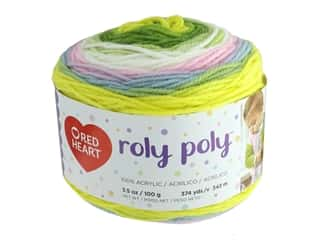 Coats & Clark Red Heart Roly Poly Yarn 3.5 oz Happy (3 skeins)
