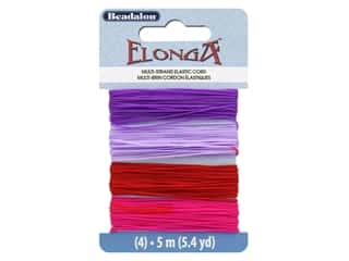 beading & jewelry making supplies: Beadalon Cord Elonga Stretchy Bead .70 mm 5 M B