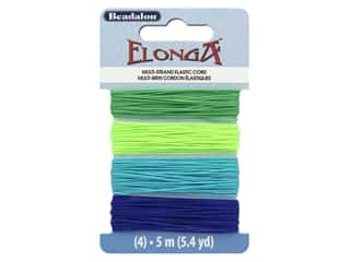 beading & jewelry making supplies: Beadalon Cord Elonga Stretchy Bead .70 mm 5 M C