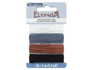beading & jewelry making supplies: Beadalon Cord Elonga Stretchy Bead .70 mm 5 M A