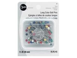 Dritz Long Color Ball Pins Size 24 75 pc.