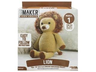 yarn & needlework: Leisure Arts Kit Mini Maker Amigurumi Lion