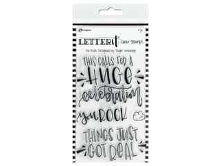 Ranger Letter It Clear Stamp Set You Rock