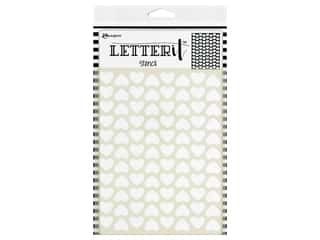 Ranger Letter It Stencil Treading Hearts