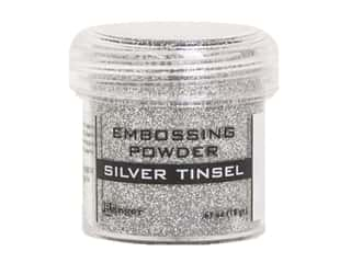 Ranger Embossing Powder .63 oz Tinsel Silver