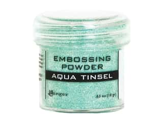 Ranger Embossing Powder .63 oz Tinsel Aqua