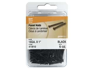 "Hillman Paneling Nails 1"" Black 6oz"