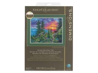 "Dimensions Cross Stitch Kit 14""x 11"" Sunset Mountain Trail"