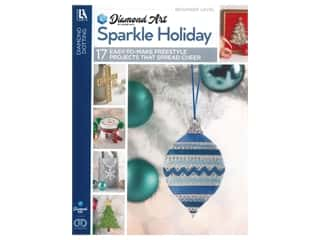 books & patterns: Diamond Art By Leisure Arts Freestyle Diamond Dotting Sparkle Holiday Book