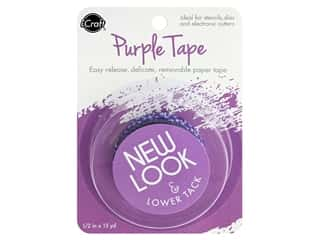 "iCraft Tape Removable .5""x 15yd Purple"