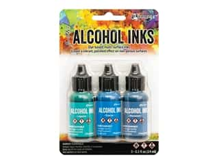 Ranger Tim Holtz Alcohol Ink Set Teal/Blue Spectrum