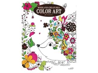 Leisure Arts Woodland Creatures Color Art For Everyone Coloring Book