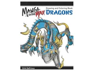 Design Originals Manga To The Max Dragons Drawing and Coloring Book