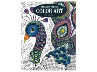books & patterns: Leisure Arts Color Art For Everyone Winged Friends Coloring Book