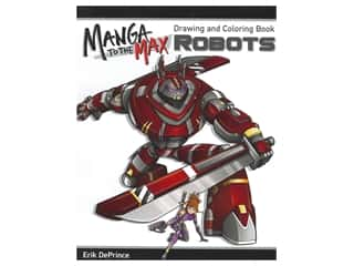 Design Originals Manga To The Max Robots Drawing and Coloring Book