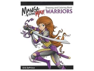 books & patterns: Design Originals Magna To The Max Warriors Drawing and Coloring Book