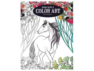 books & patterns: Leisure Arts Color Art For Everyone Boho World Coloring Book