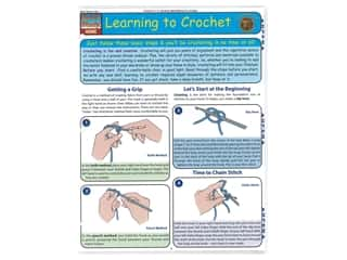Leisure Arts Quick Study Reference Guide Learning To Crochet Book