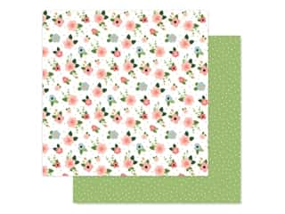 scrapbooking & paper crafts: Echo Park Baby Girl Collection Paper 12 in. x 12 in. Newborn Floral (25 pieces)