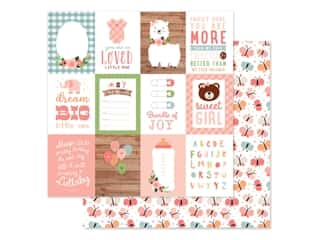 scrapbooking & paper crafts: Echo Park Baby Girl Collection Paper 12 in. x 12 in. Journaling Cards 3 in. x 4 in. (25 pieces)