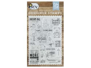 Echo Park Collection Baby Boy Stamp Set Dream Big Little Man