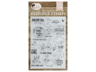 heart stamp: Echo Park Collection Baby Girl Stamp Set Dream Big Little Lady