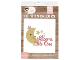 scrapbooking & paper crafts: Echo Park Collection Baby Girl Die Set Little One Moon & Stars