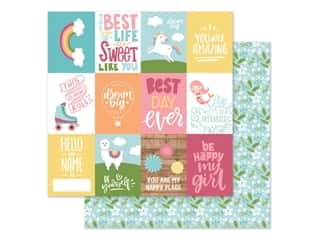 Echo Park Collection All Girl Paper 12 in. x 12 in. Journaling Cards 3 in. x 4 in. (25 pieces)