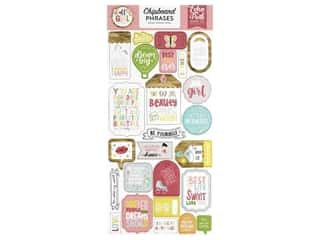 Echo Park Collection All Girl Chipboard 6 in. x 12 in. Phrases