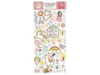 Echo Park Collection All Girl Chipboard 6 in. x 12 in. Accents