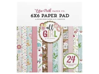 scrapbooking & paper crafts: Echo Park Collection All Girl Paper Pad 6 in. x 6 in.