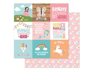 Echo Park Collection All Girl Paper 12 in. x 12 in. Journaling Cards 4 in. x 4 in. (25 pieces)