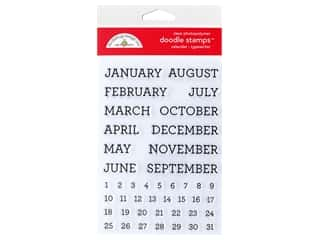 Doodlebug Collection All Occasion Stamp Calendar Typewriter