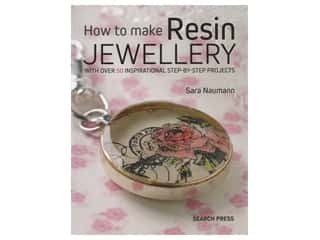 beading & jewelry making supplies: Search Press How To Make Resin Jewelry Book