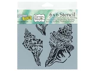 scrapbooking & paper crafts: The Crafter's Workshop Stencil 6 x 6 in. Conch Shells