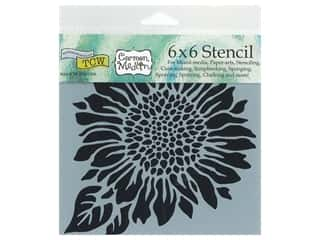 The Crafter's Workshop Stencil 6 x 6 in. Joyful Sunflower