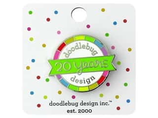beading & jewelry making supplies: Doodlebug Embellishment Collectible Pin 20th Birthday