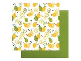 Bella Blvd Collection Squeeze The Day Paper 12 in. x 12 in. Zesty (25 pieces)