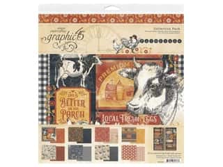 Graphic 45: Graphic 45 Collection Farmhouse Collection Pack 12 in. x 12 in.