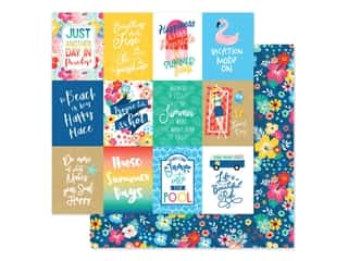 Echo Park Collection Dive Into Summer Paper 12 in. x 12 in. Journaling Cards 3 in. x 4 in. (25 pieces)